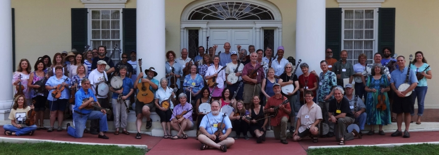 Group picture at the Stephen Foster Old Time Music Weekend.