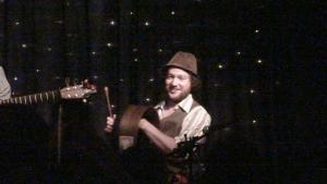 Fergal Scahill during a bodhran solo.